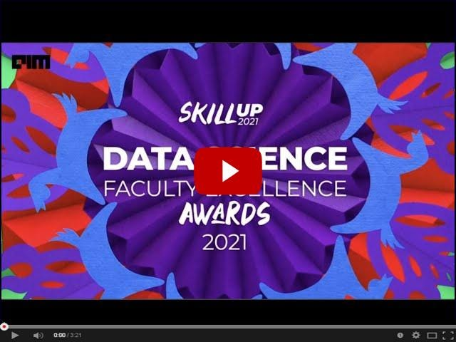 Skillup 2021   Data Science Faculty Excellence Awards