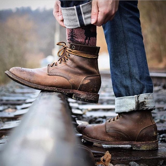 oakstreet bootmakers trench boots you could win if you refer lots of people