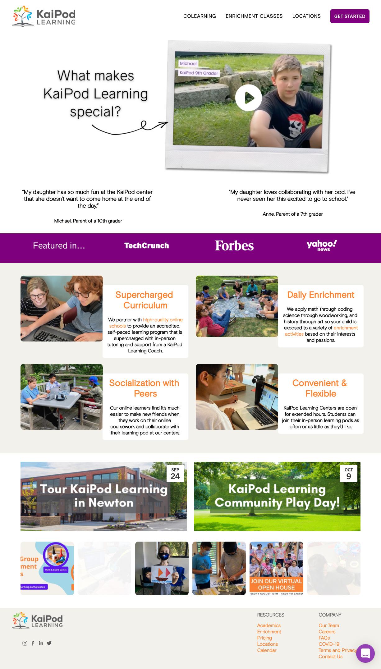 KaiPod Learning Homepage