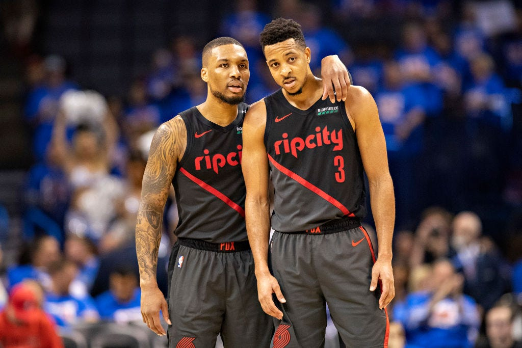 Image result for damian lillard and kyrie irving brooklyn