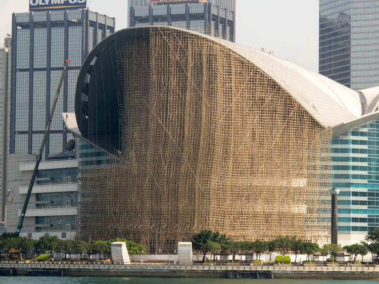 Watch How Bamboo Scaffolding Was Used to Build Hong Kong's Skyscrapers |  ArchDaily