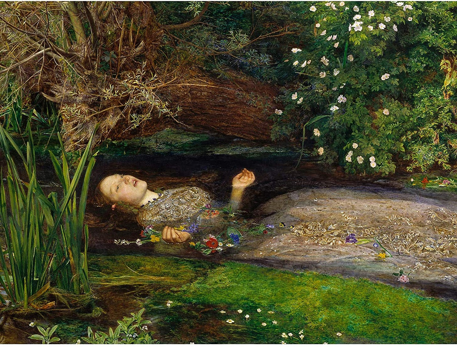 Amazon.com: John Everett Millais Ophelia Cropped Large Art Print ...