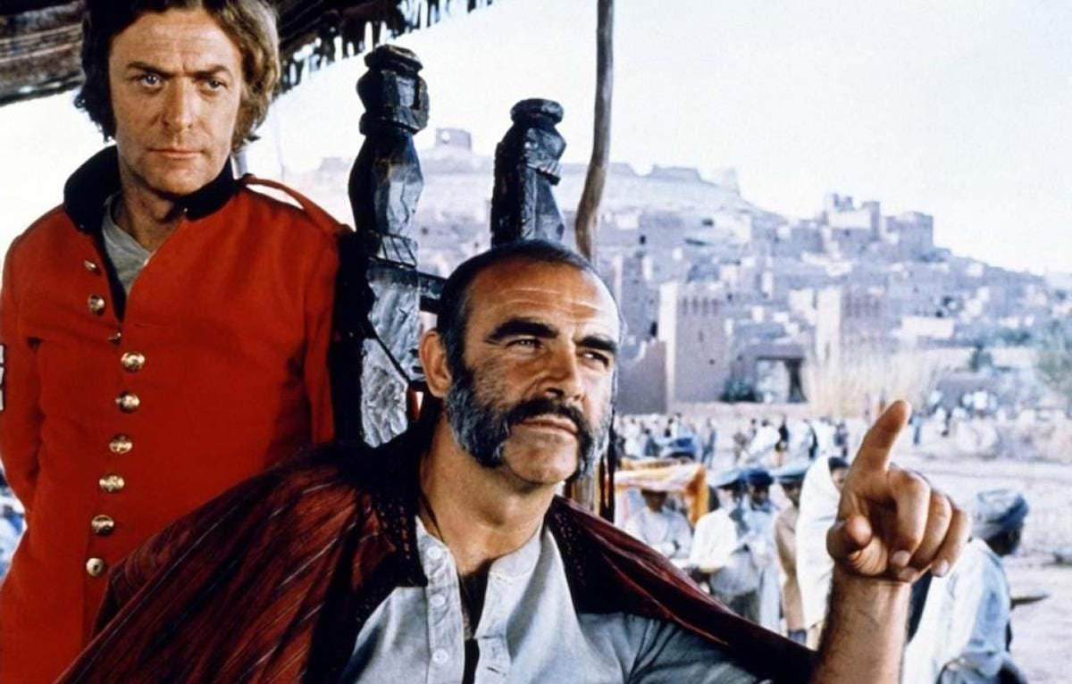 Sean Connery and Michael Caine are Godlike in The Man Who Would Be King -  Den of Geek