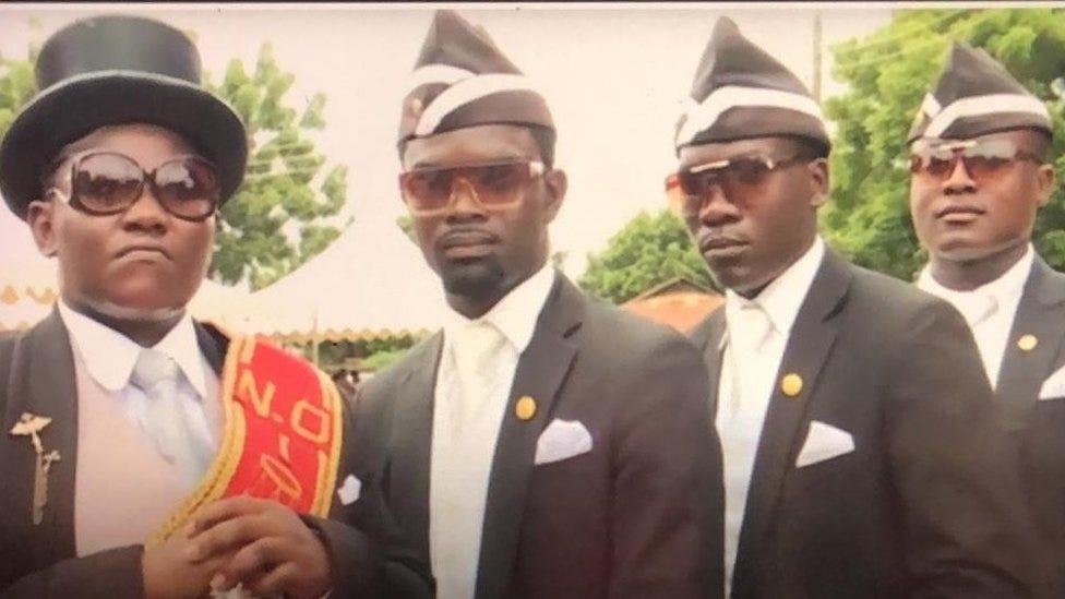 Coronavirus: How dancing Ghana pallbearers turn Covid-19 sensation - BBC  News Pidgin