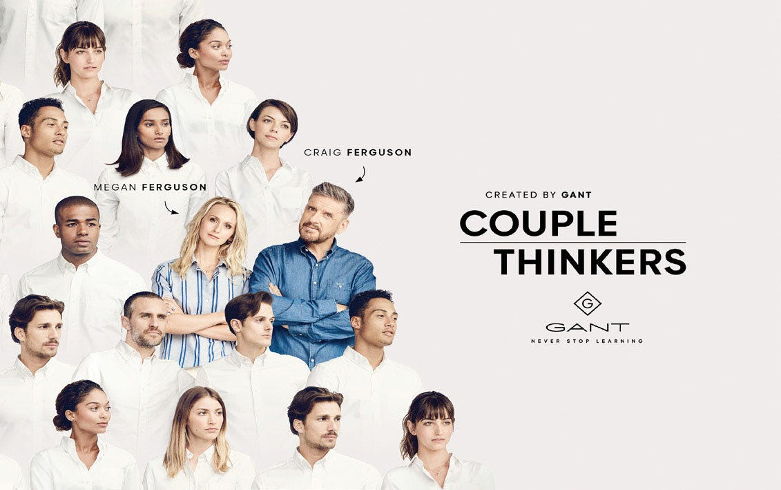 Gant to launch 'Couple Thinkers' TV show on YouTube - News : medias  (#870122)