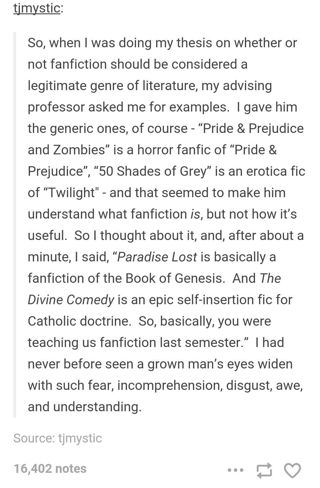 TIL Dante Alghieri wrote a fanfic   Fanfiction   Know Your Meme