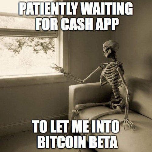 """Cash App on Twitter: """"Blockchaiiiiinnnnn. We're rolling out bitcoin to more  of our most active customers. Swipe right from your Cash Card to see if you  have it. #satoshi… https://t.co/EvIS8zUVqp"""""""
