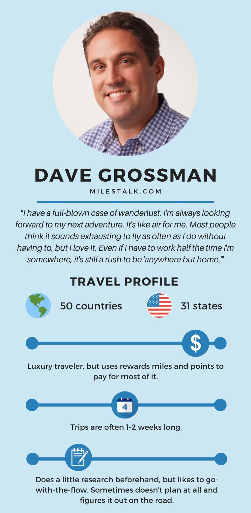 Dave travel profile