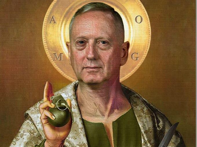 MARSOC Facebook Posts Picture of Mattis As a Saint