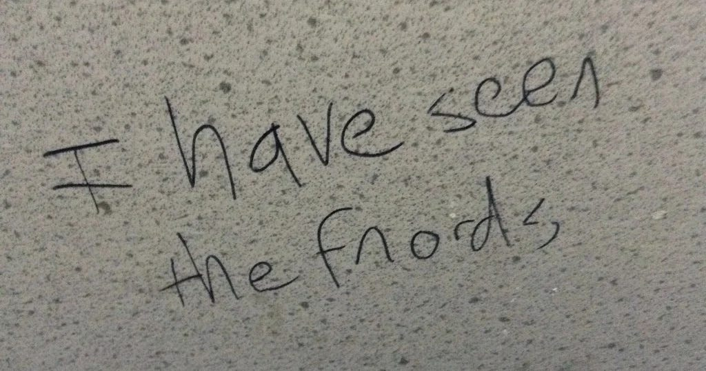 """""""I have seen the fnords"""" graffiti"""
