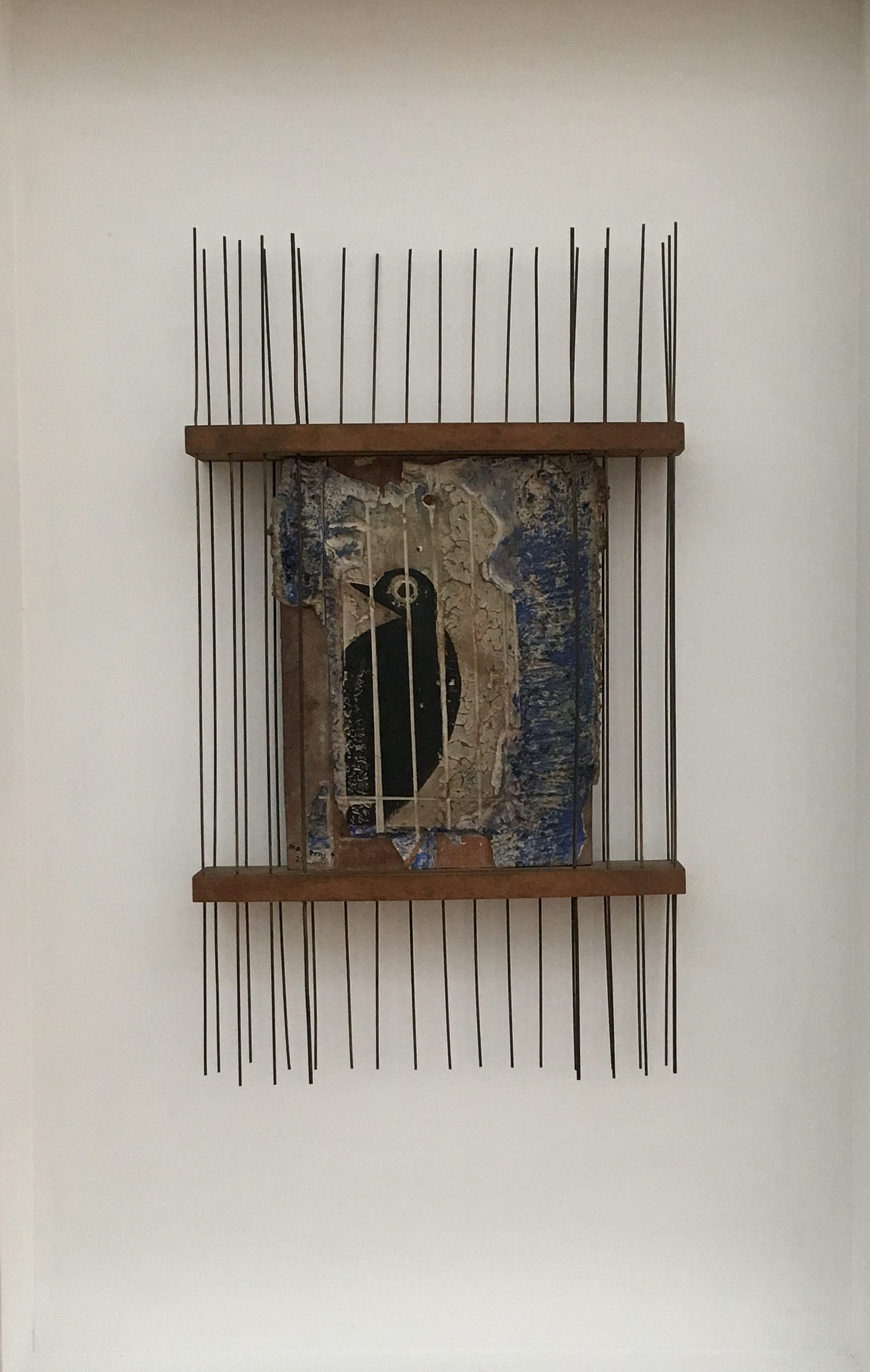 Artwork of a bird in a cage (From Zurich's Kunsthaus)