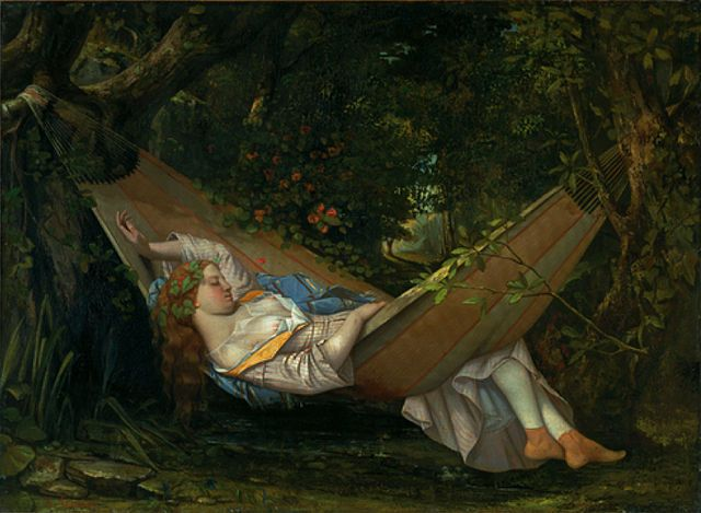 File:Gustave Courbet, 1844, Le Rêve (The Hammock), oil on canvas, 70.5 × 97  cm, Museum Oskar Reinhart, Switzerland.jpg - Wikimedia Commons