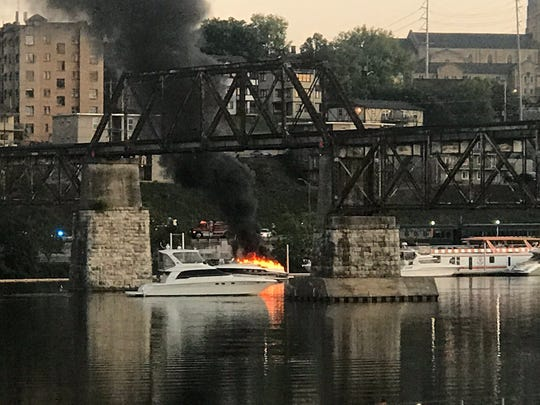Image result for tennessee boat fire