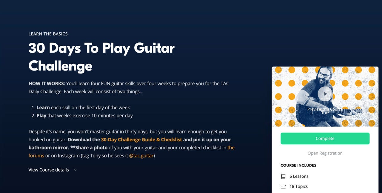 30 Days to Play Guitar