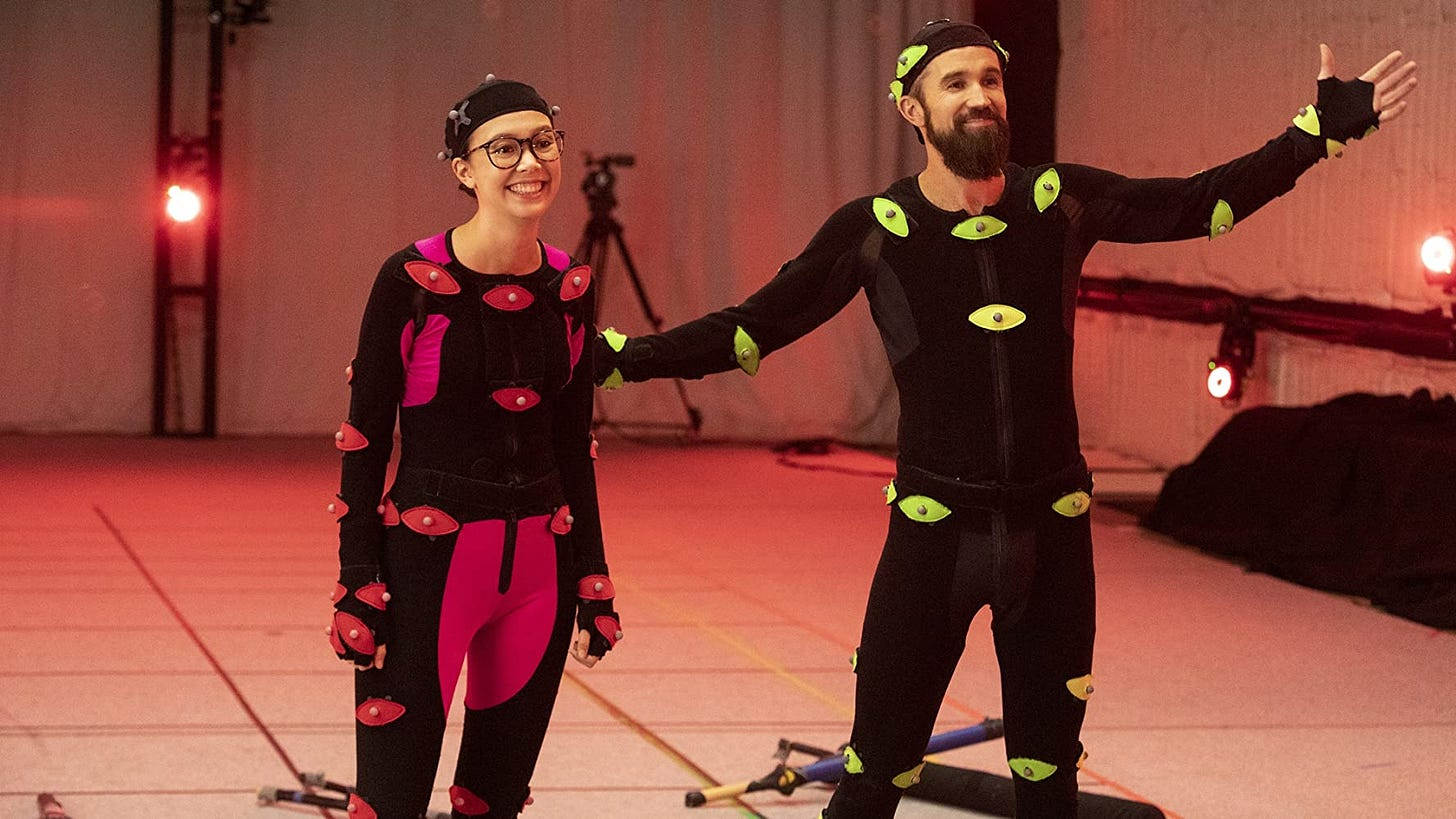 Rob McElhenney and Charlotte Nicdao in Permadeath (2020)