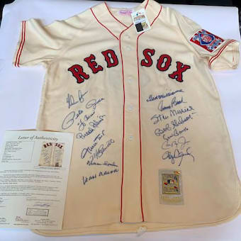 Incredible All Century Team Signed Jersey 15 Sigs With Ted Williams JSA COA