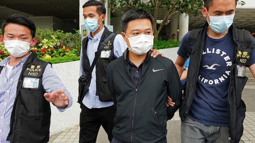 Executives of Outspoken Hong Kong Newspaper Arrested