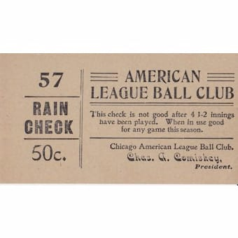 1906 Chicago White Sox World Series Full Ticket And Postcard
