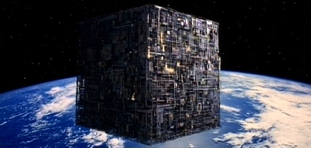 Image result for borg cube star trek""
