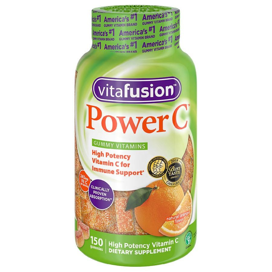 Vitafusion Power C Gummy Vitamins Orange | Walgreens