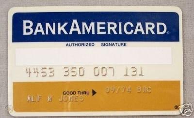 Bank Americard cartão visa que chegava de graça pelos correios