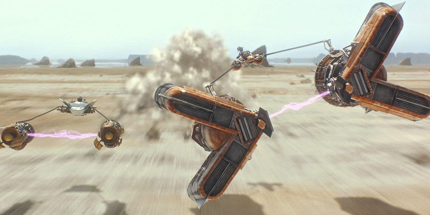 Image result for the phantom menace pod race