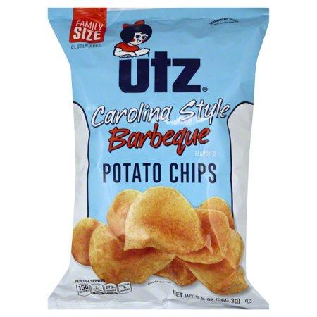 Utz Carolina Style Barbeque Potato Chips, 9.5 Oz. - Walmart.com ...