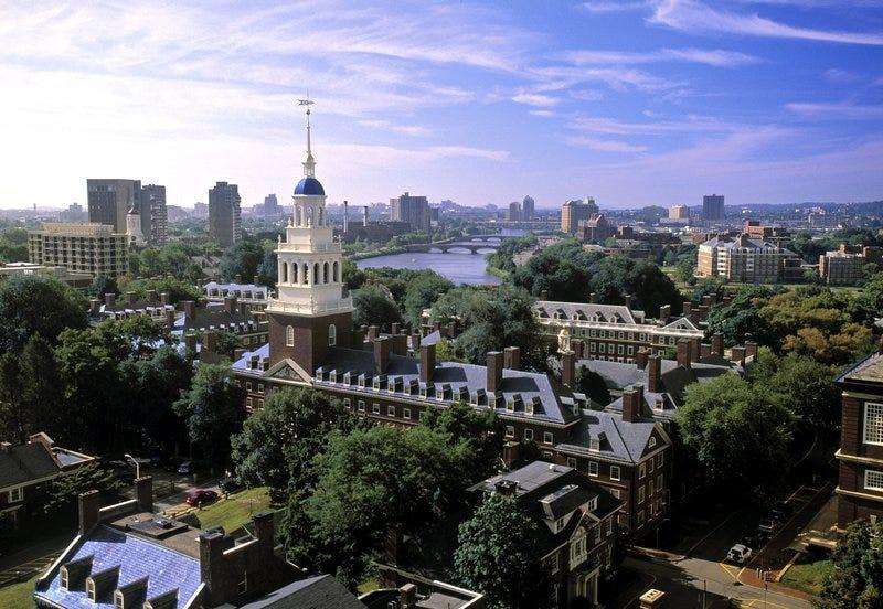 The campus of Harvard University in Cambridge, Mass.