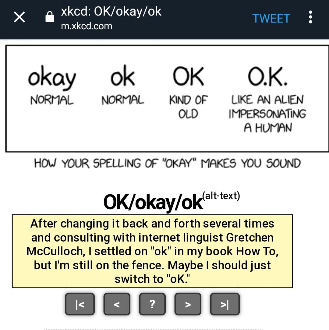 ok okay xkcd