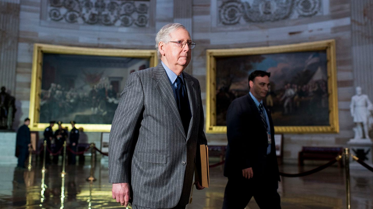 Image result for mcconnell impeachment senate trial