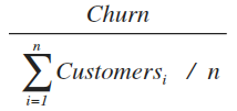 shopify customer churn equation adjusted formula
