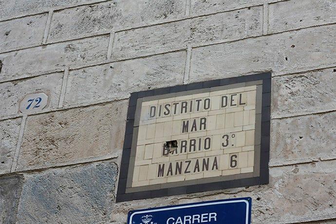 Distrito, Barrio, Manzana