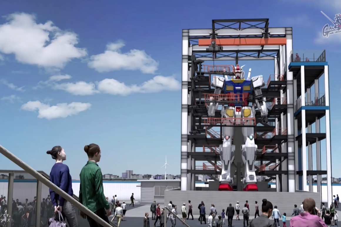 An 18-meter (60-ft) walking Gundam robot will be unveiled in Yokohama this October