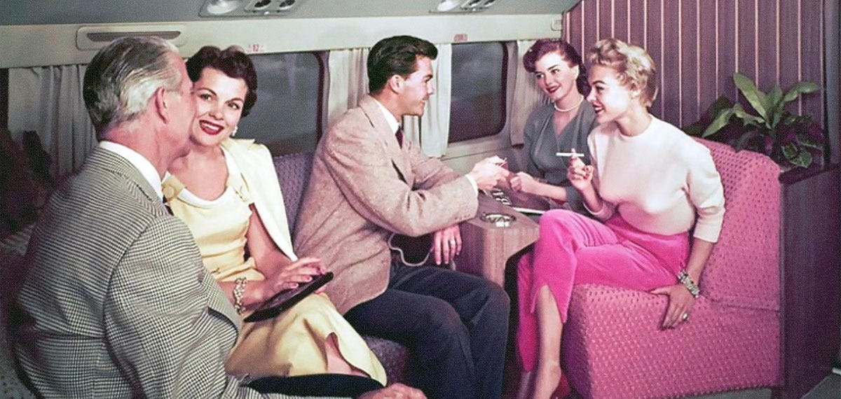 Interior of an Airline from the 1950s