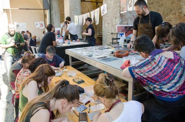 Workshop di incisione con Enrico Rambaldi di INK33