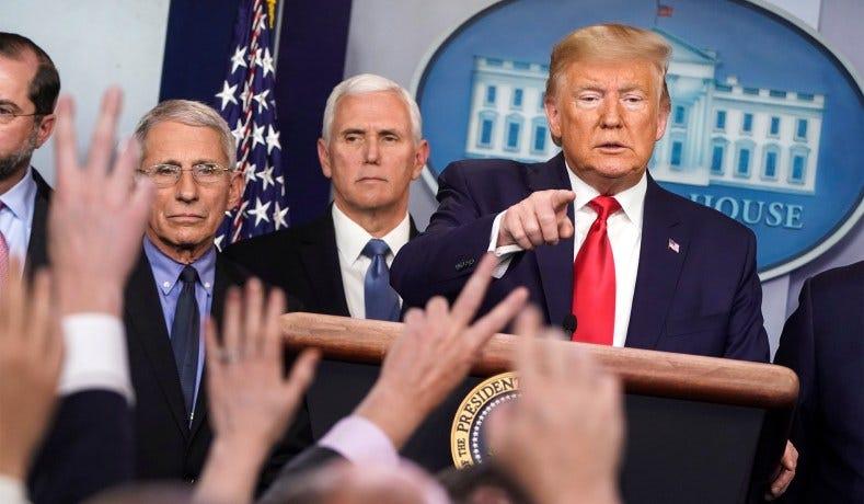 Image result for Trump press conference coronavirus