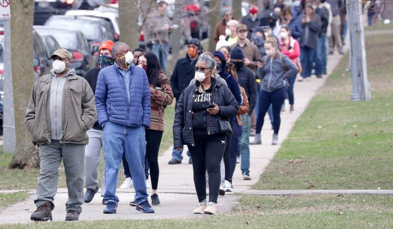 Coronavirus & Wisconsin Election: Voters Left with Difficult ...