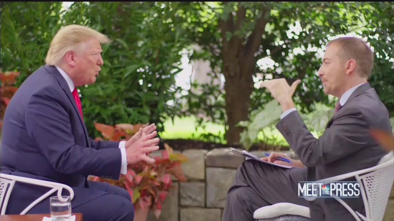 Image result for trump on meet the press today