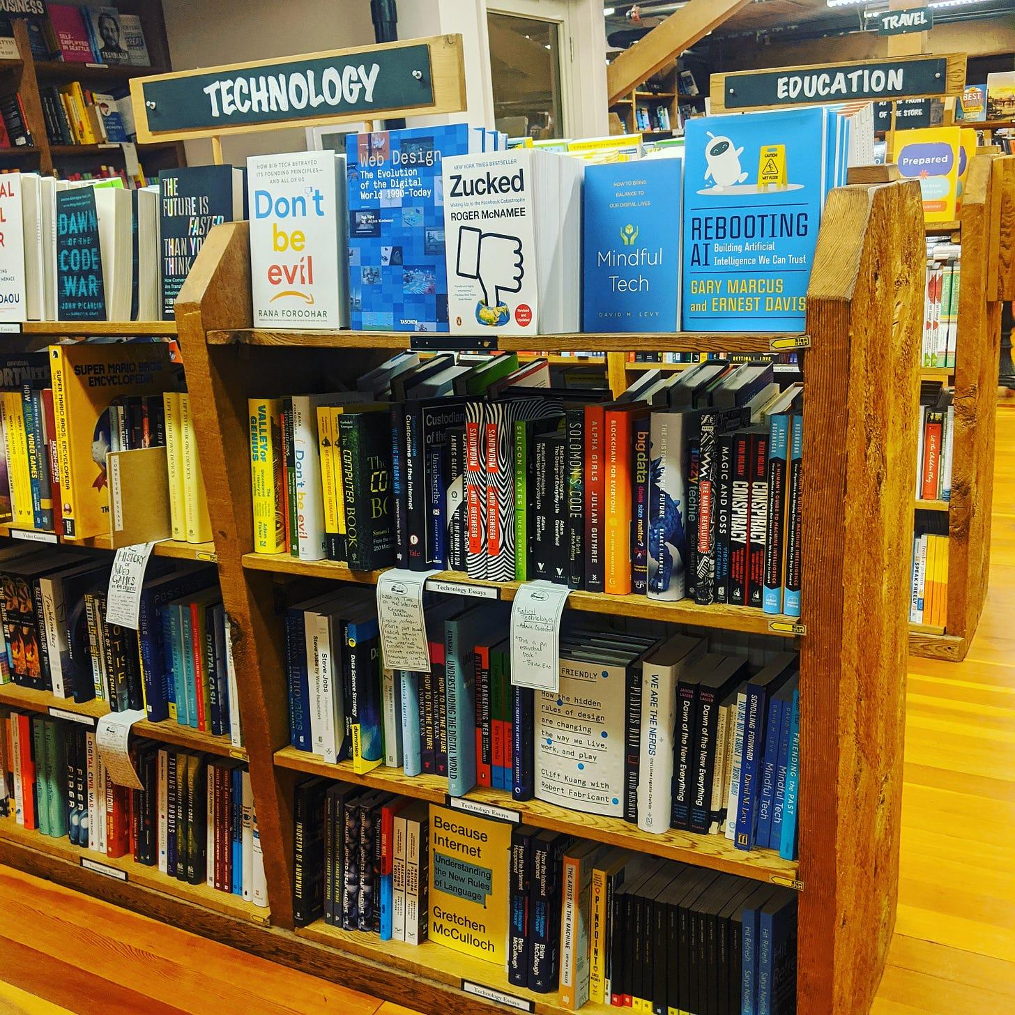 elliott bay books because internet technology section