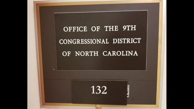 Image result for north carolina 9th congressional district capitol hill office empty