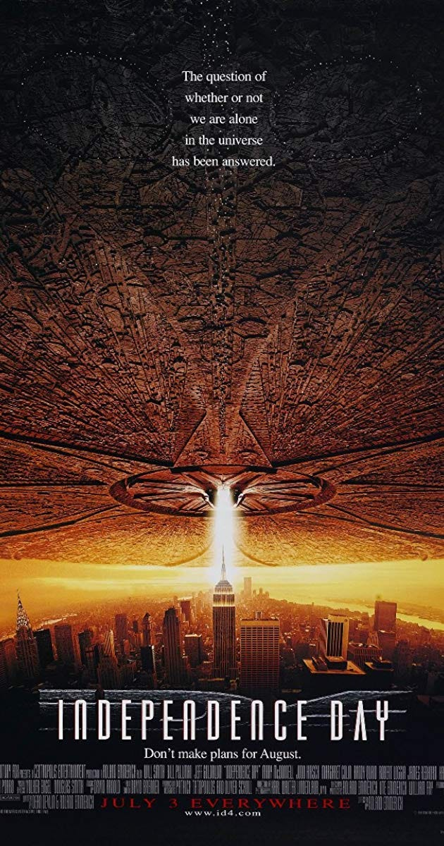 Image result for independence day 1996 poster