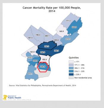 Image result for maps of philadelphia cancer rates