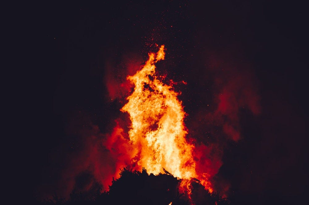 shallow focus photograph of fire