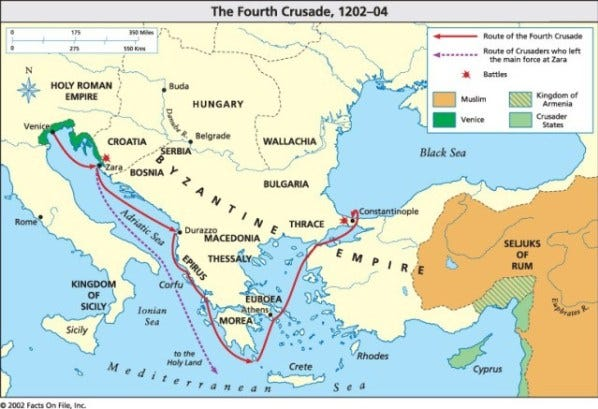 map-of-the-fourth-crusade