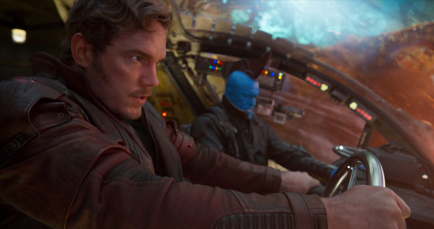 Image result for guardians peter and yondu