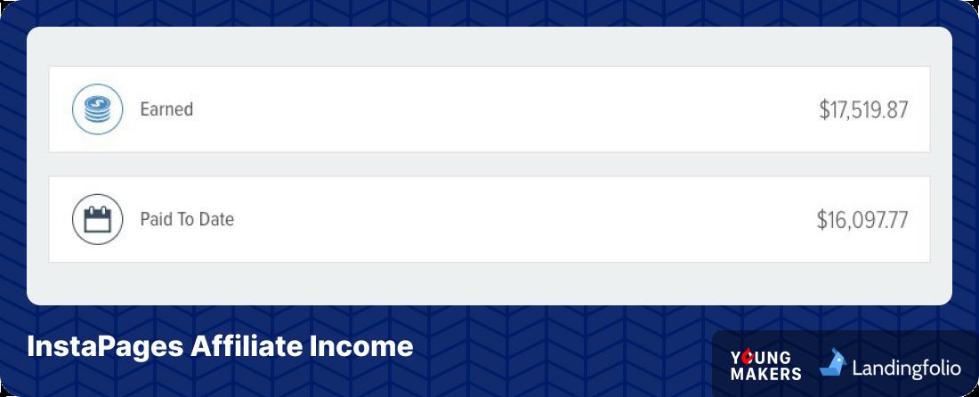 YoungMakers – LandingFolio Instapages affiliate revenue