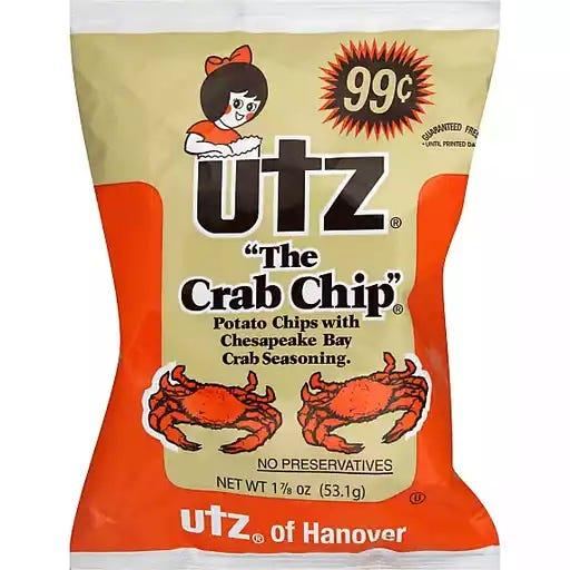 "Utz Potato Chips ""The Crab Chip"" | Potato | Matherne's Market"