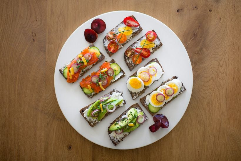 open faced sandwiches can be healthy