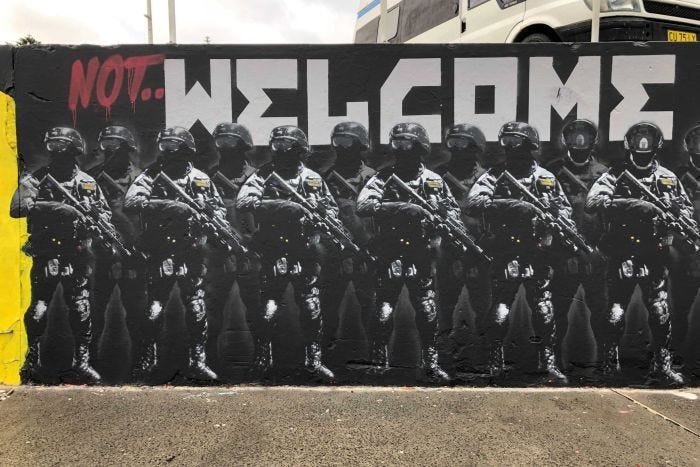 The controversial mural at Bondi Beach