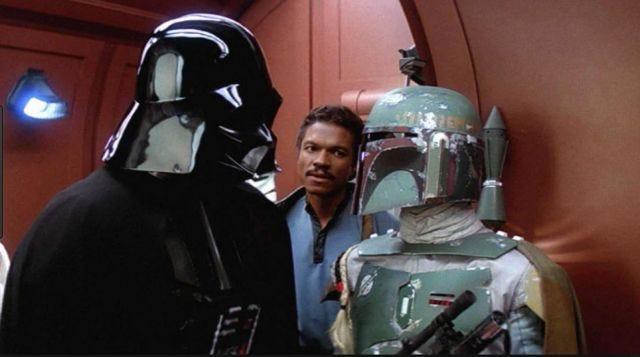 the mask of Darth Vader in Star Wars V : The Empire strikes back ...